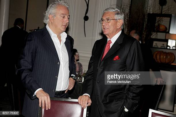 Aby Rosen and Eli Broad attend AMERICAN JEWISH COMMITTEE Honors LAURENCE GRAFF at Daniel on November 14 2008 in New York City
