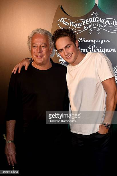 Aby Rosen and guest attend Dom Perignon Alex Dellal Stavros Niarchos Vito Schnabel host From Earth to Heart at The W Hotel South Beach on December 4...