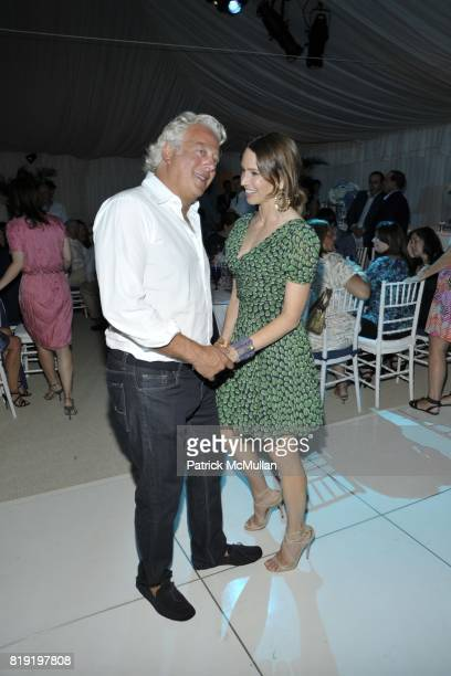 Aby Rosen and Samantha Boardman Rosen attend QVC Style Initiative Dinner hosted by CEO Mike George at the home of Dennis Basso and partner Michael...