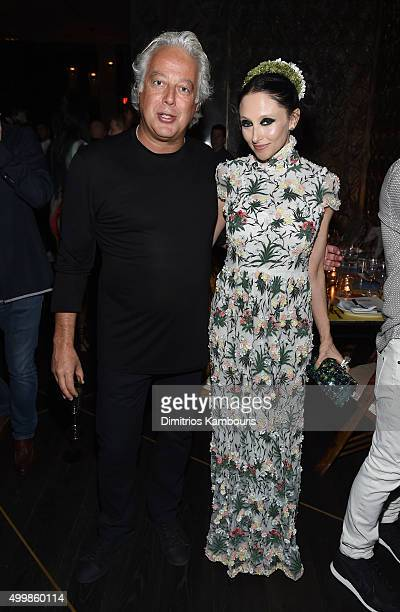 Aby Rosen and Stacey Bendet Eisner attend Aby Rosen and Samantha Boardman host their Annual Dinner at The Dutch W Hotel South Beach on December 3...