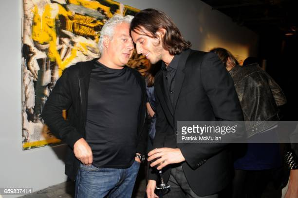 "Aby Rosen and Vladimir Restoin Roitfeld attend VLADIMIR RESTOIN ROITFELD RVCA Present NICOLAS POL's 'The Martus Maw"" at 80 Essex St on November 09..."