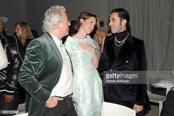 Aby Rosen Samantha Boardman and Giambattista Valli attend CFDA/VOGUE Fashion Fund Awards at Skylight Studios on November 17 2008 in New York City