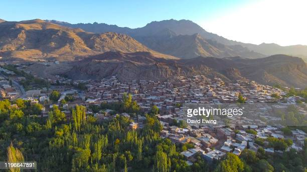 abyaneh, isfahan, iran - david ewing stock pictures, royalty-free photos & images