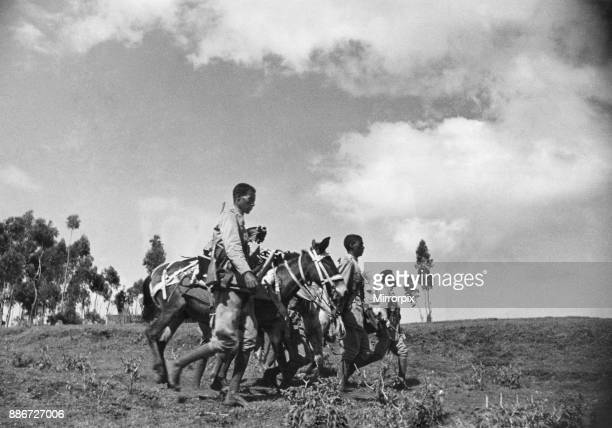 Abyssinian War September 1935 Abyssinian mobile gun team seen here on the move on the Ogadan front