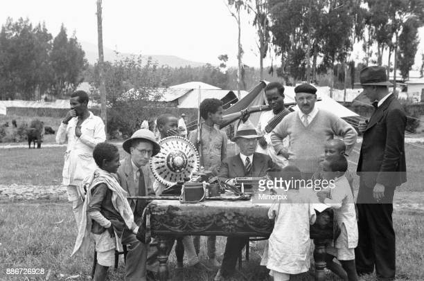 Abyssinian War September 1935 Foreign correspondents reporting from Addis Ababa