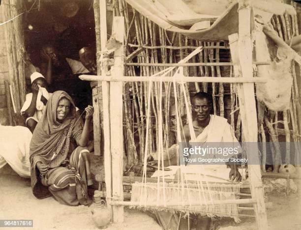 Abyssinian weaving loom Ethiopia 1901