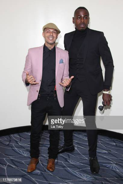 Abz Love and Ben Ofoedu attends the World Fashion Awards at The Savoy Hotel on September 18 2019 in London England