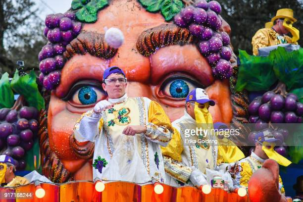 Ac tor Jim Caviezel attends the 2018 Krewe of Bacchus parade on February 11 2018 in New Orleans Louisiana