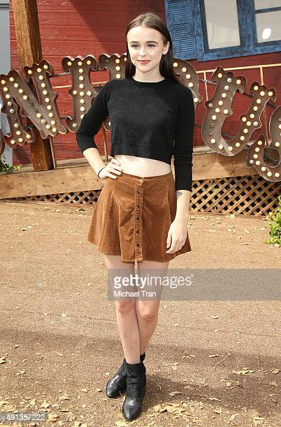 Acacia Brinley arrives at the world premiere of 'Goosebumps' held at Regency Village Theatre on October 4 2015 in Westwood California