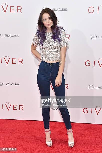Acacia Brinley attends The Giver premiere at Ziegfeld Theater on August 11 2014 in New York City