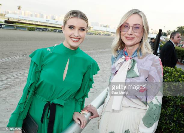 Acacia Courtney and Belinda Stronach attend the 2020 Pegasus World Cup Championship Invitational Series at Gulfstream Park on January 25 2020 in...
