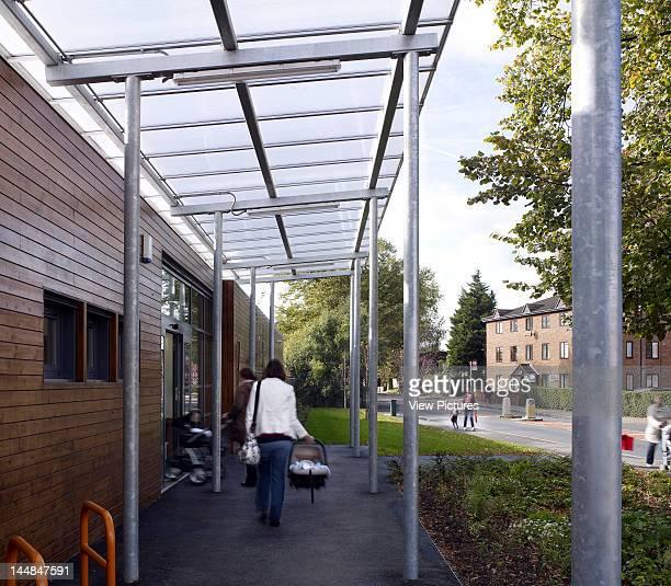 Acacia Intergenerational Activity Centre Grove Road LondonUnited Kingdom Architect C U R L L A T O U R E L L E A R C H I T E C T S Entrance By Curl...
