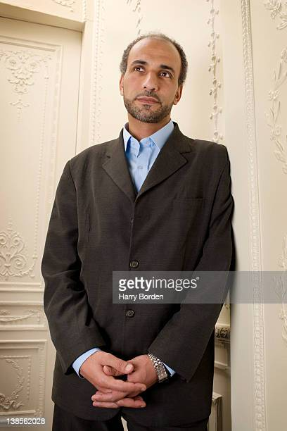 Academic poet and writer Tariq Ramadan is photographed for Le Monde on February 15 2006 in London England