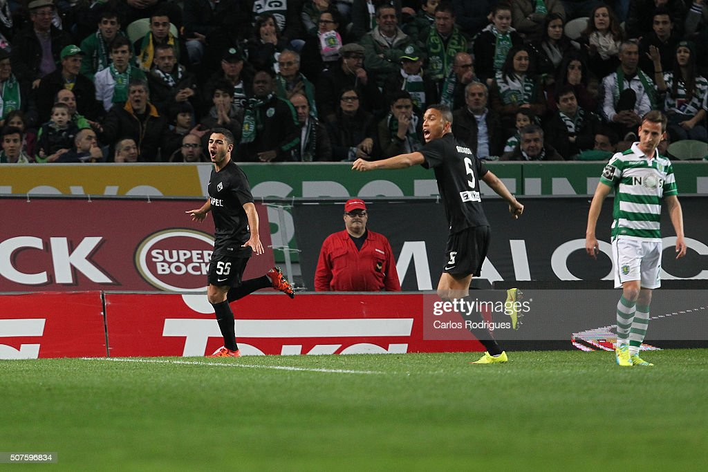 Academica's defender Rafa Soares during the match between Sporting CP and A Academica de Coimbra for the Portuguese Primeira Liga at Jose Alvalade Stadium on January 30, 2016 in Lisbon, Portugal.