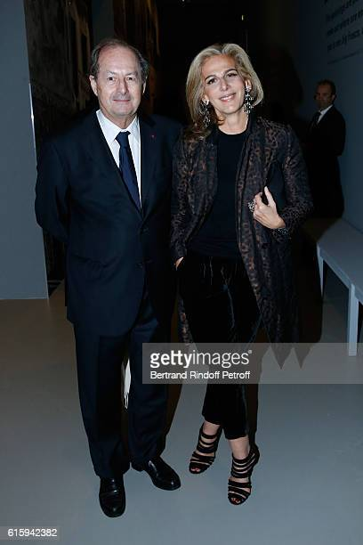 Academician JeanMarie Rouart and Anne Fulda attend the 'Icones de l'Art Moderne La Collection Chtchoukine' Cocktail at Fondation Louis Vuitton on...