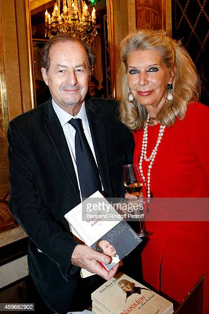 Academician JeanMarie Rouart and Baroness Ameil attend the 37th Writers Cocktail organized by Circle Maxim's Business Club in Fairs Fouquet's on...