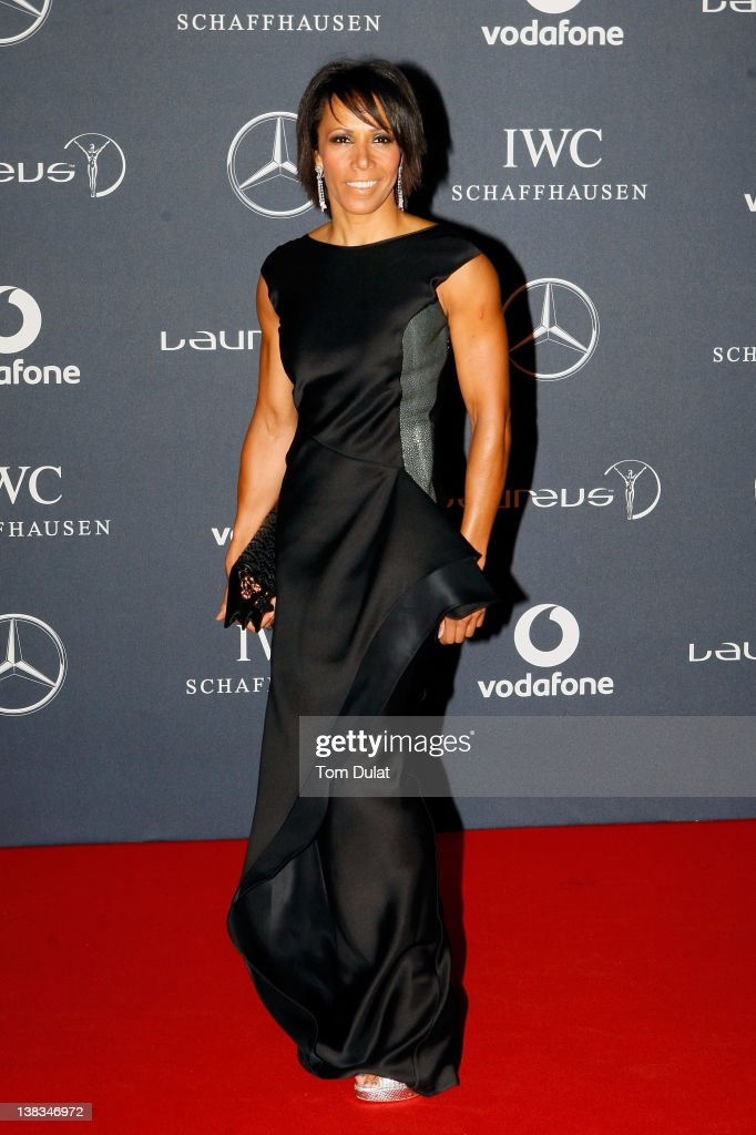 Academy Ambassador Dame Kelly Holmes attends the 2012 Laureus World Sports Awards at Central Hall Westminster on February 6, 2012 in London, England.