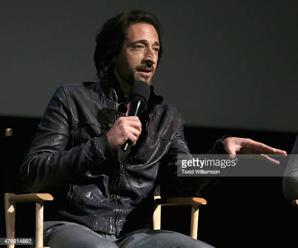 Academy Award winner Adrien Brody speaks onstage at the Jameson First Shot short film competition at Paramount Pictures Studios on June 27 2015 in...