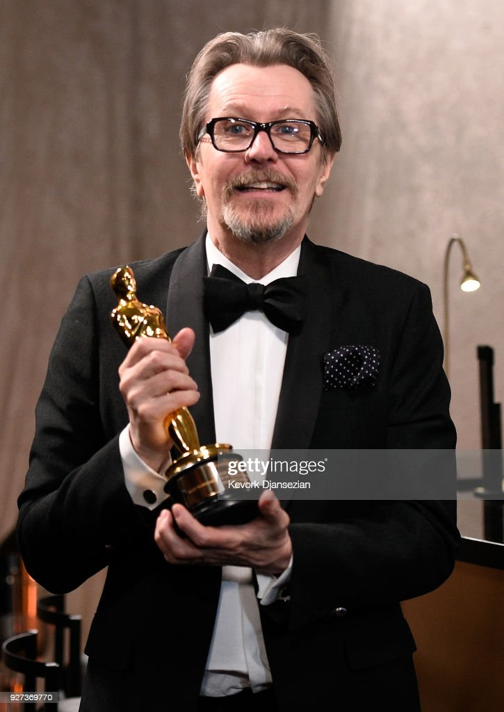Academy Award Winner for Best Actor for 'Darkest Hour', Gary Oldman attends the 90th Annual Academy Awards Governors Ball at Hollywood & Highland Center on March 4, 2018 in Hollywood, California.