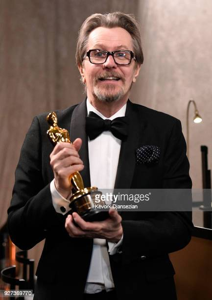 Academy Award Winner for Best Actor for Darkest Hour Gary Oldman attends the 90th Annual Academy Awards Governors Ball at Hollywood Highland Center...