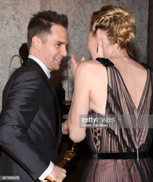 Academy Award Winner for Best Supporting Actor Sam Rockwell attends the 90th Annual Academy Awards Governors Ball at Hollywood Highland Center on...
