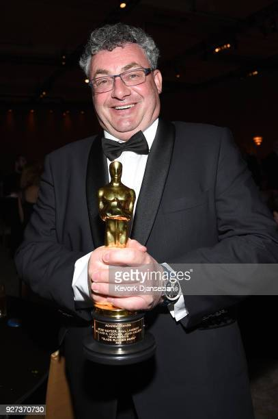 Academy Award winner for Best Visual Effects 'Blade Runner 2049', Gerd Nefzer poses with award at the 90th Annual Academy Awards Governors Ball at...