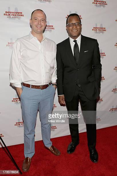Academy Award winner Geoffrey Fletcher and Brand Director of Bombay Sapphire Ned Duggan attend the LA Premiere of Bombay Sapphire Imagination Series...