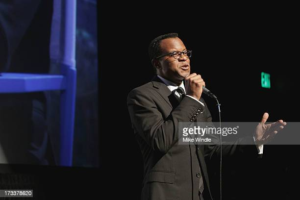 Academy Award winner Geoffrey Fletcher speaks during the LA Premiere of Bombay Sapphire Imagination Series Film during the 4th Annual Downtown Film...