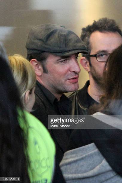 Academy Award Winner Jean Dujardin is sighted at Aeroport Roissy Charles de Gaulle on February 28 2012 in Paris France