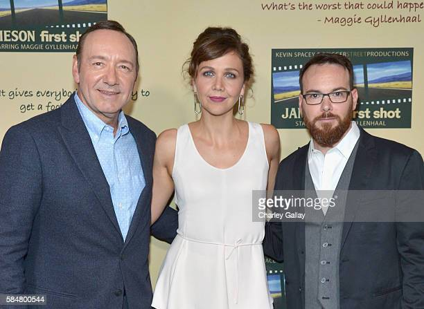 Academy Award winner Kevin Spacey Golden Globe winner Maggie Gyllenhaal and award winning film producer Dana Brunetti celebrated the Jameson First...