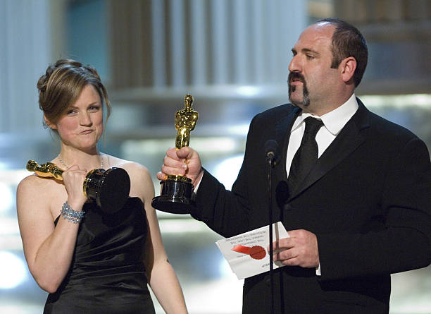 Academy Award Winners For Best Makeup Tami Lane Left And Howard Berger During The
