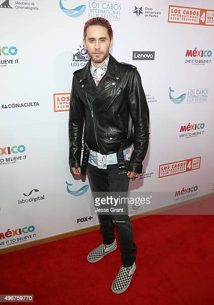 Academy Award winning actor Jared Leto attends The 4th Annual Los Cabos International Film Festival Opening Night Gala on November 11 2015 in Cabo...