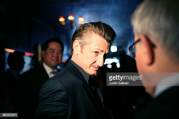 Academy award winning actor Sean Penn arrives at a press conference announcing legislation to create a Harvey Milk Day in California March 3 2009 in...