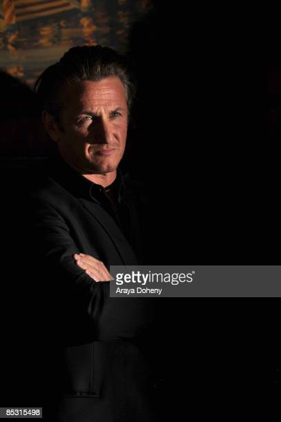 Academy Award winning actor Sean Penn attends the Harvey Milk Day press conference at Tosca Cafe on March 3 2009 in San Francisco California