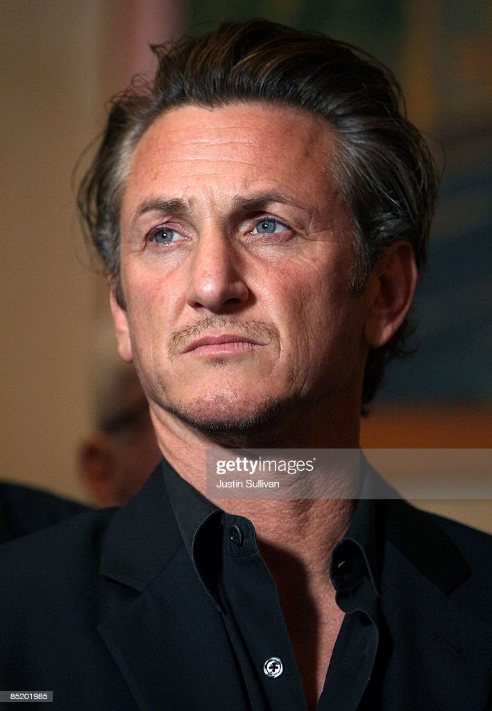 Academy award winning actor Sean Penn looks on during a press conference announcing legislation to create a Harvey Milk Day in California March 3, 2009 in San Francisco, California. Actor Sean Penn and California State Sen. Mark Leno (D-San Francisco) announced legislation that will be introduced to create a Harvey Milk Day in California to recognize the efforts of the slain gay rights activist.