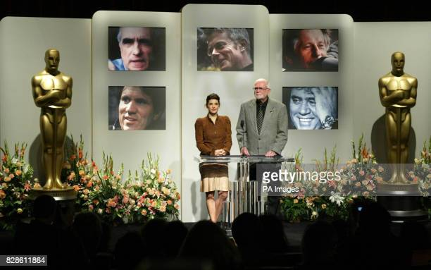 Academy Award winning actress Marisa Tomei and Academy of Motion Picture Arts and Sciences President Frank Pierson announce the nominees for Best...