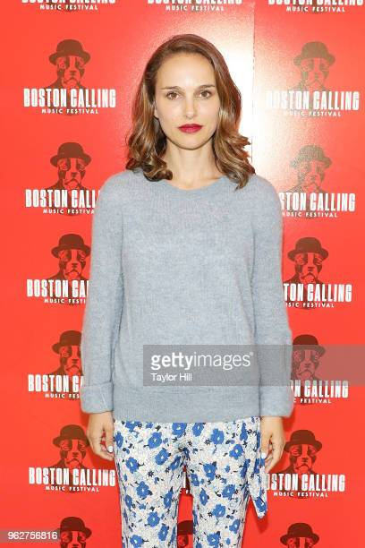 Academy Award winning actress Natalie Portman attends Day 2 of 2018 Boston Calling Music Festival at Harvard Athletic Complex on May 26 2018 in...