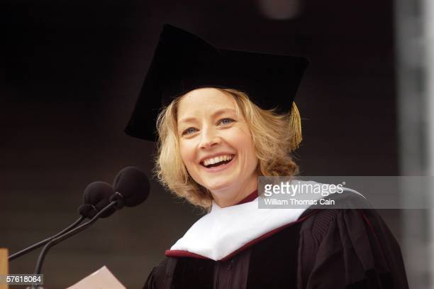 Academy Award winning actress producer and director Jodie Foster speaks at the 250th Commencement of the University of Pennsylvania May 15 2006 in...