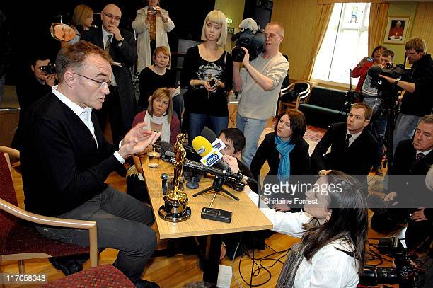 Academy Award winning filmmaker Danny Boyle visits St Mary's Catholic Social Club on March 1 2009 in Manchester England