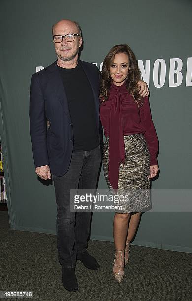 Academy Award winning producer/screewriter Paul Haggis appears with Actor/writer/producer Leah Remini as she signs copies of her new book...