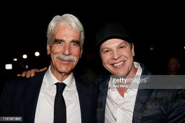Academy Awardnominated actor Sam Elliott and multiplatinum selling singer performer and songwriter Gavin DeGraw backstage at the 2019 National...