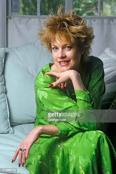 Academy Awardnominated actress Melanie Griffith poses during a 1987 Los Angeles California photo portrait session Griffith is married to actor...
