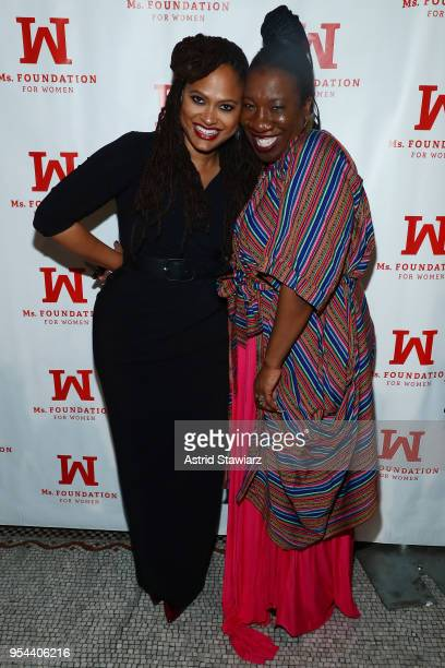 Academy AwardNominated Director and WOV Honoree Ava DuVernay poses with Founder of the #MeToo Movement and Founder and Director of Just Be Inc Tarana...