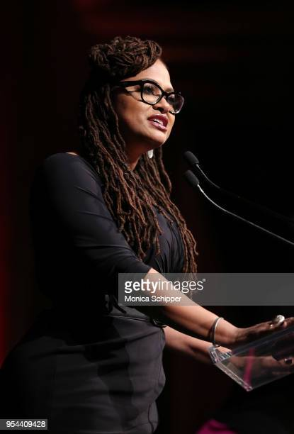 Academy AwardNominated Director and WOV Honoree Ava DuVernay speaks onstage at the Ms Foundation 30th Annual Gloria Awards at Capitale on May 3 2018...