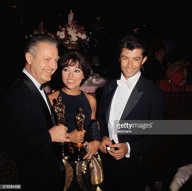 LR are Robert Wise Rita Moreno and George Chakiris Wise was the Director of Best Picture with Moreno and Chakiris as Best Supporting Actress and...