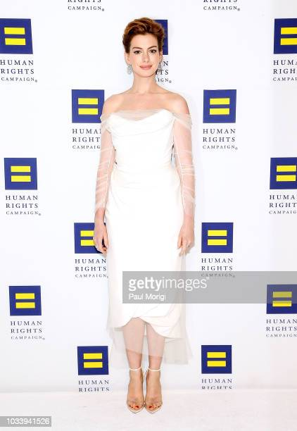 Academy Awardwinning actress Anne Hathaway is honored at the 22nd annual Human Rights Campaign National Dinner at the Walter E Washington Convention...