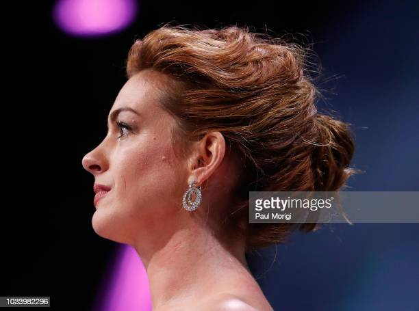 Academy Awardwinning actress Anne Hathaway's hairstyle at the 22nd annual Human Rights Campaign National Dinner at the Walter E Washington Convention...