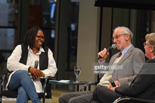 Academy Governor Whoopi Goldberg Academy Museum Architect Renzo Piano and Academy Museum Director Kerry Brougher speak onstage during the Academy...