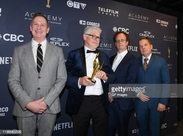 Academy Icon Award winners for Kids in the Hall Scott Thompson Dave Foley Kevin McDonald and Bruce McCulloch at the 2019 Canadian Screen Awards...