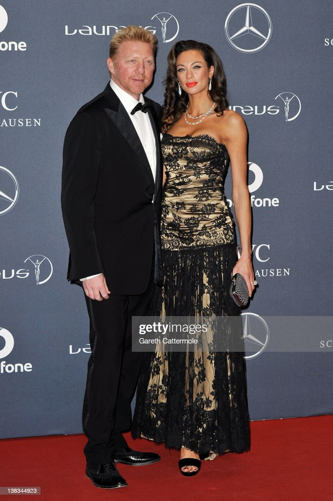Academy member Boris Becker and Sharlely Becker attend the 2012 Laureus World Sports Awards at Central Hall Westminster on February 6, 2012 in London, England.